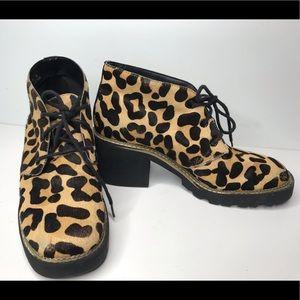 Topshop leopard animal hair print lace shoe 39